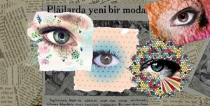 Newspaper and eyes